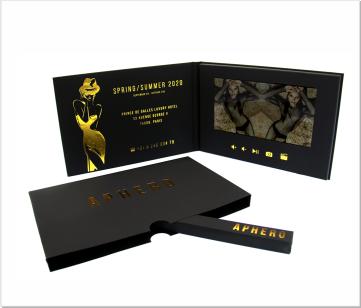 Aphero   A5 Video Brochure met LCD beeldscherm