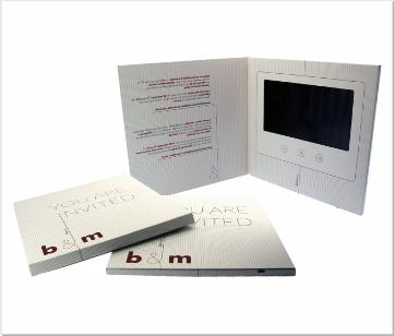 B&M   Video Brochure met LCD beeldscherm