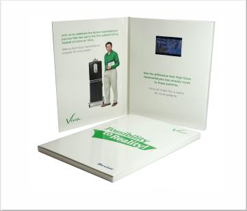 Baxter   A5 Video Brochure met 2.4 inch beeldscherm