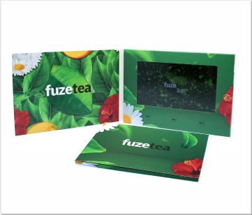 FuzeTea   Video Brochure met LCD beeldscherm
