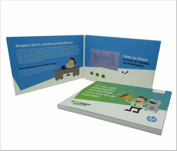 HP   A5 Video Brochure met LCD beeldscherm