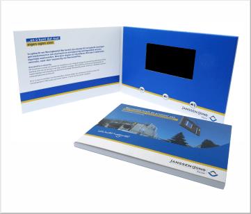 Janssen Bouw   A5 Video Brochure met 4.3 inch beeldscherm
