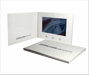 Jaspers-Evers   A5 Video Brochure met 7 inch beeldscherm