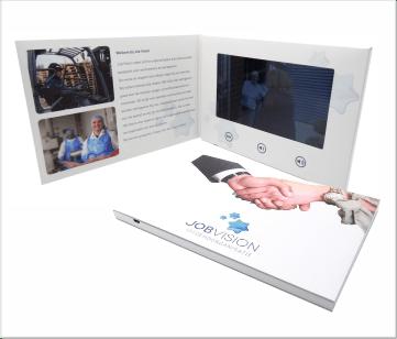 JobVision   A5 Video Brochure met 7 inch beeldscherm