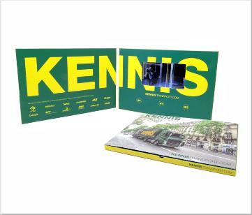 Kennis Transport   A5 Video Brochure met LCD beeldscherm