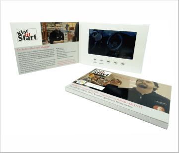 Klare&Start   A5 Video Brochure met 7 inch beeldscherm