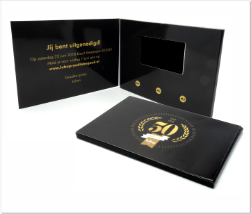 Luba   A5 Video Brochure met LCD beeldscherm
