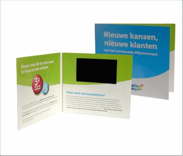 Miljoenspel   A6 Video Brochure met 4.3 inch beeldscherm