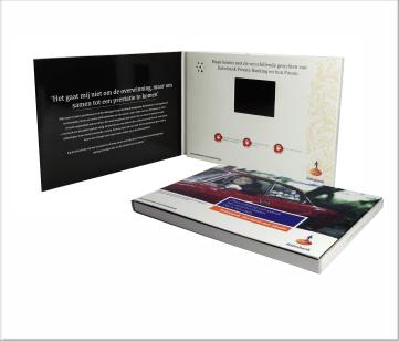Rabobank   A6 Video Brochure met 2.4 inch beeldscherm