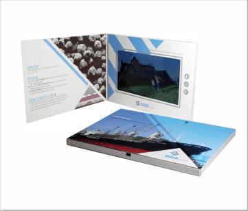 Sesco   A5 Video Brochure met 7 inch beeldscherm