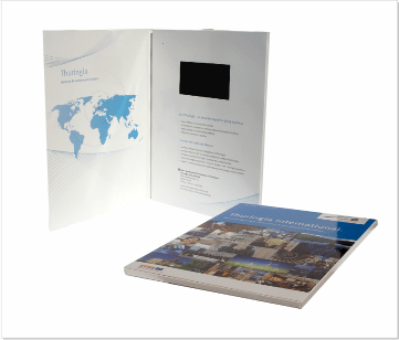 Thuringa   A4 Video Brochure met 4.3 inch beeldscherm
