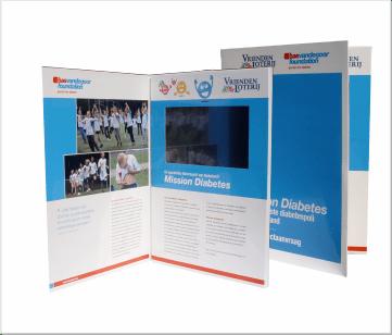 Vriendenloterij   A4 Video Brochure met 7 inch Touch screen